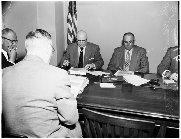 Fire Commission hearing on segregation, 1954