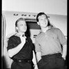 Pat Boone and Gary Crosby arrival, 1958