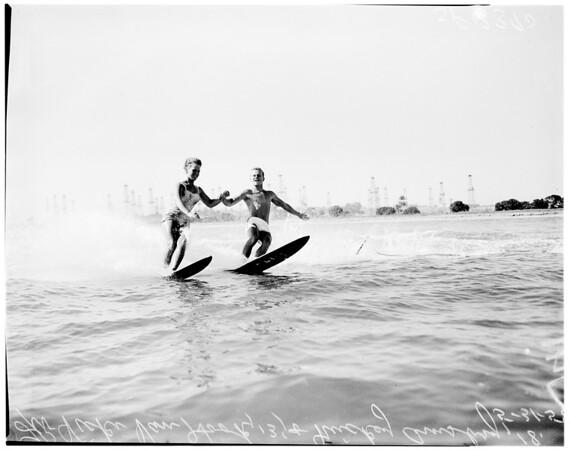 Water skiing, 1958
