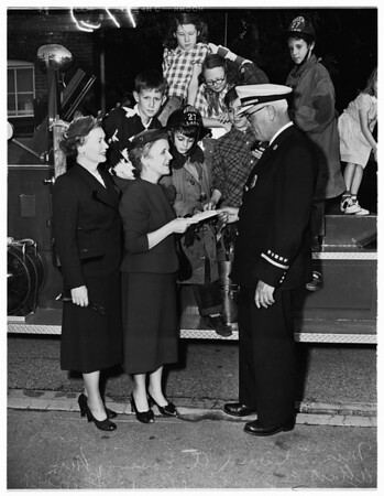 Los Angeles orphans (Fire Department check for $1854.45), 1953