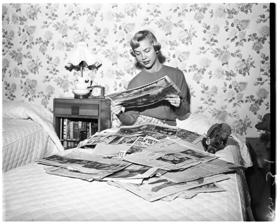 Rose Queen prepares for big day, 1956