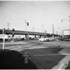 Los Angeles City streets (Pacific Electric overpass at Venice Boulevardand La Cienega Boulevard), 1953
