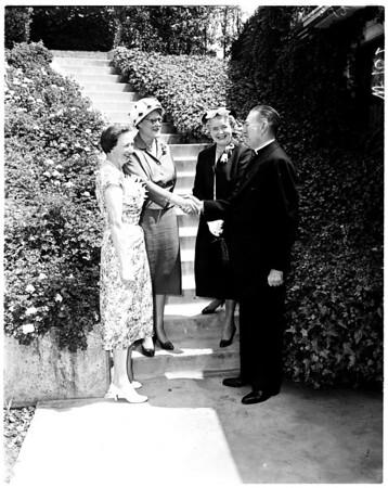 Bishop's garden party, 1958