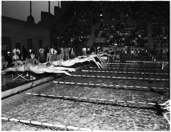 Swimming -- International 1958 swim meet, 1958