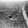 Air views of Playa Del Rey Yacht Harbor site, 1957
