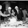 Beverly Hilton Hotel party, 1954