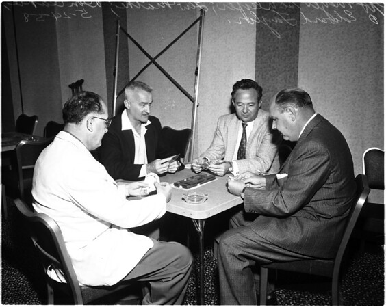 Bridge tourney, 1958