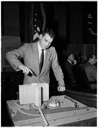City Planning Commission hearing on limit height of building construction, 1956
