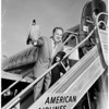 Arrival at airport, 1958