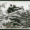 Moslem [sic] man barricade in Palestine, 1948