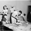 University of Southern California help week student paint spastic foundation, 1955