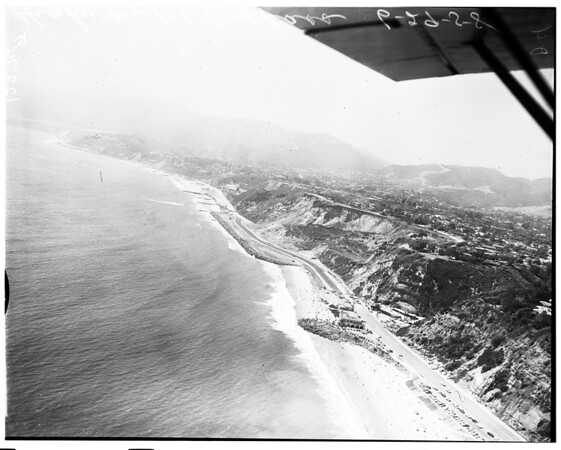 Aerial views of 101 Highway bypass, 1958