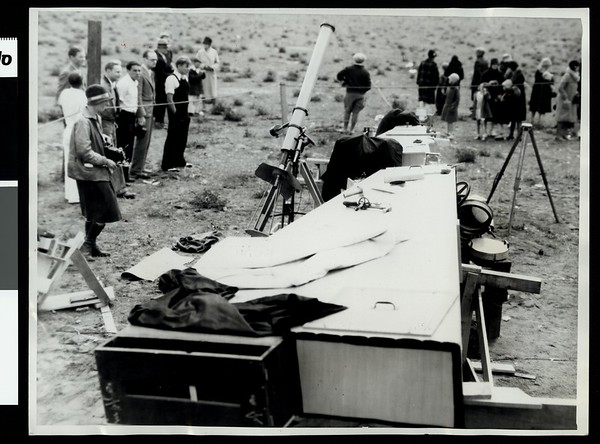 Where scientists observed eclipse at Honey Lake camp
