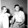 Deputy Sheriff stabbed in Judge Ambrose courtroom, 1958
