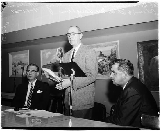 Malibu slide meeting, 1958
