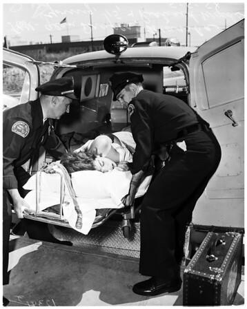 Girl shot (murder attempt) Russian roulette, 1958
