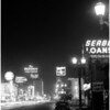 Los Angeles scenes (night lights), 1957