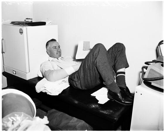 Baseball -- Los Angeles Dodgers injury, 1961