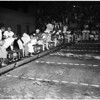 Swimming -- International invitational swim meet, 1500 meter freestyle, 1958