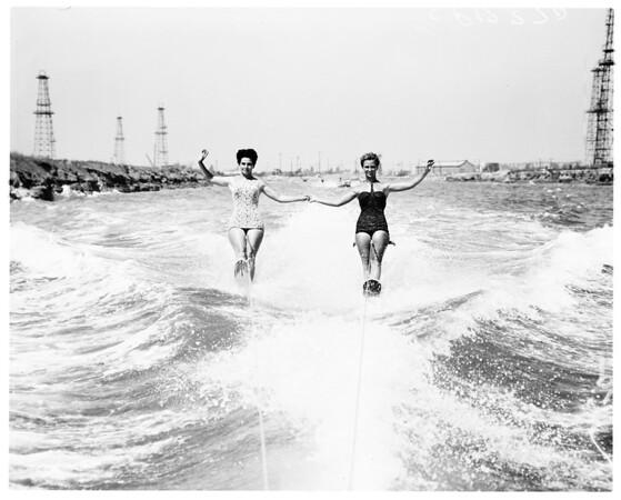 Water skiing -- Marine stadium, 1958