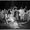 University of Southern California jubilation, frat row at 28th Street, 1954.