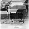 City Hall getting bath, 1953