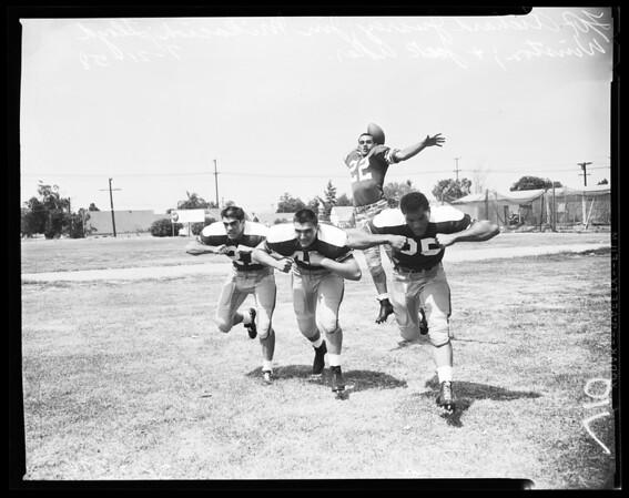Football -- Shrine North team, 1958