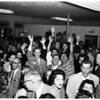 At election headquarters, 1958