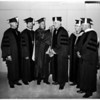 University of Southern California graduation (honorary degree winners) general views, 1959