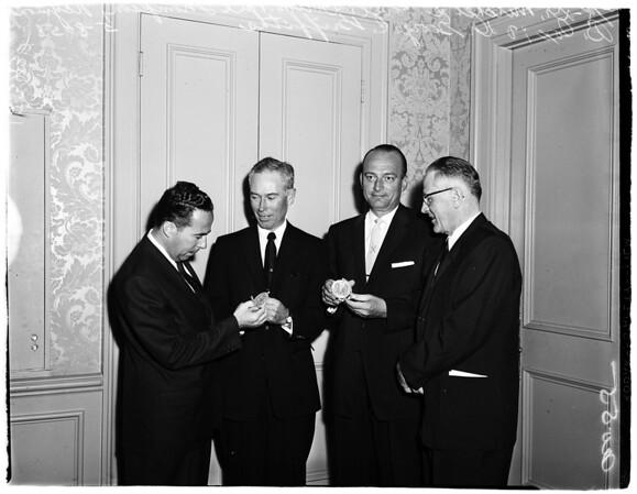 Los Angeles County Heart Association dinner, 1958