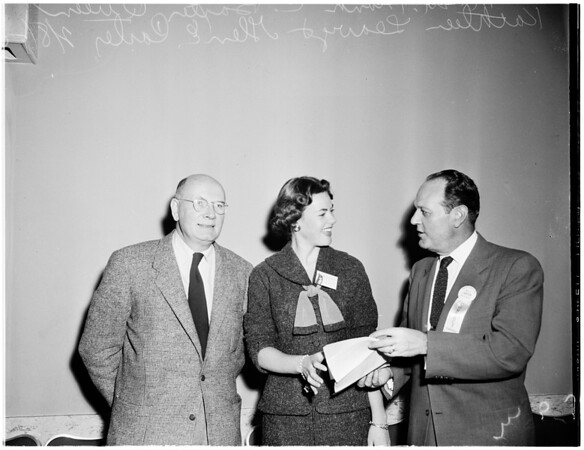University of Southern California 75th anniversary luncheon at Advertising Club of Los Angeles, 1955