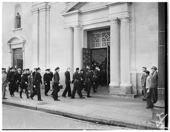 Police and Fire Department mass, Saint Vibiana's Cathedral, 1954
