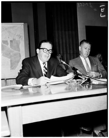 Dodger hearing on Chavez Ravine, 1958