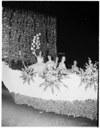 University of Southern California homecoming parade, 1954