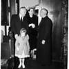 Governor Knight at Easter service at Saint John's Episcopal Church, 1958