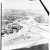 Aerial views of Ventura -- San Diego Freeway Interchange, 1958