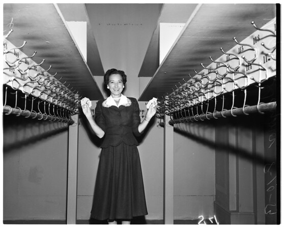 Virginia Gaynor (Cocoanut Grove hat check girl), 1954