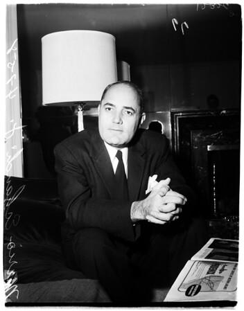 President elect Mario Echandi, 1958