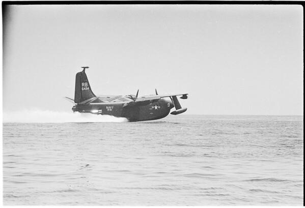 Magic eye of Seaplane takeoff, 1958