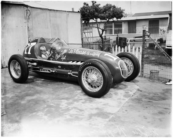 Auto -- Race -- Riverside 500 mile entry, 1958