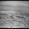 Aerial views of Los Angeles looking North, 1954