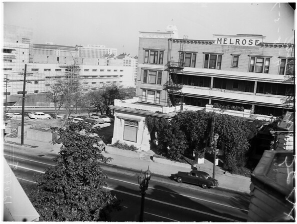 Melrose Hotel being torn down after 75 years, 1957
