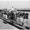 Councilmen tour harbor, 1954