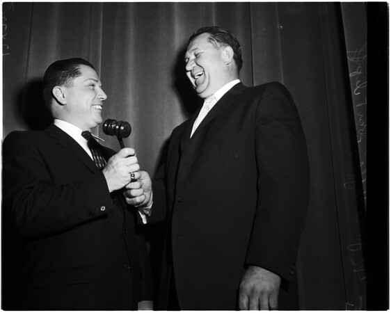 James Hoffa gives speech, 1958