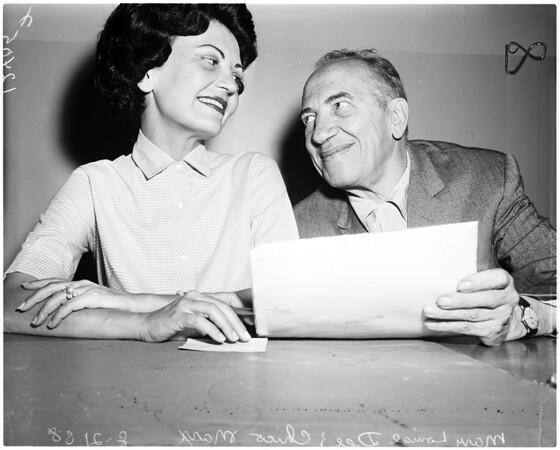 Marx marriage (Santa Monica), 1958