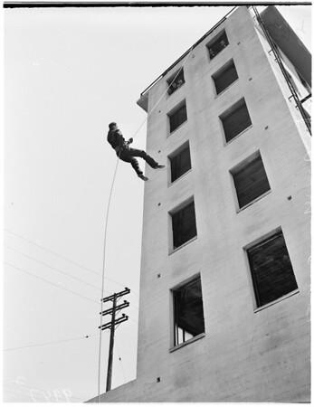Firemen rookies (training), 1953