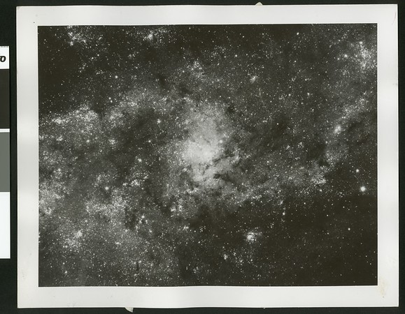 """A """"close-up"""" of the central region of the spiral galaxy Messier 33, 1954"""