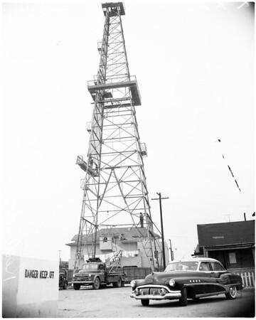 Redondo oil derrick, 1956