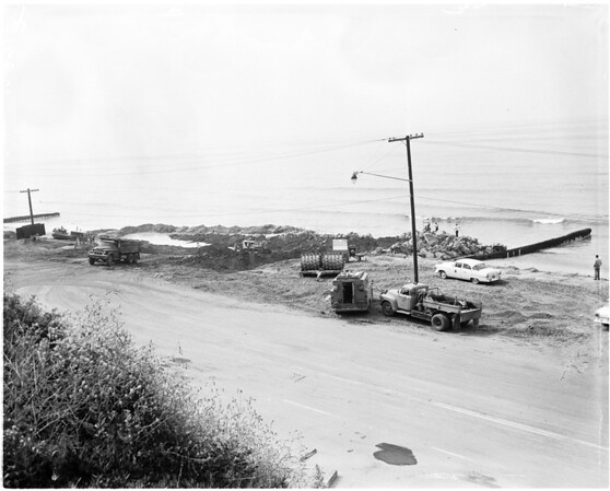 Landslide area (Santa Monica slide progress), 1958