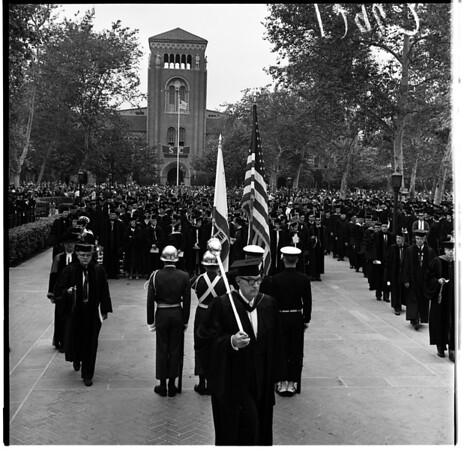 University of Southern California graduation, 1961